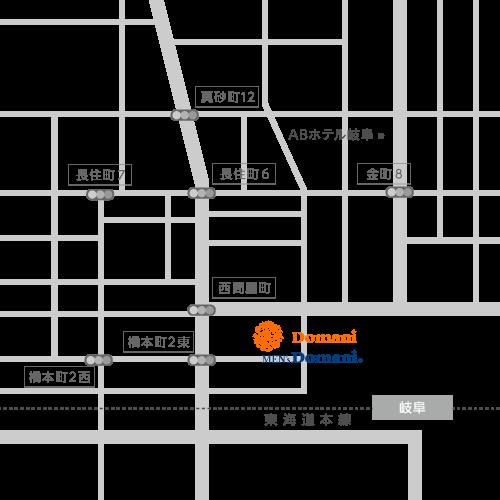 岐阜シティタワー43店MAP