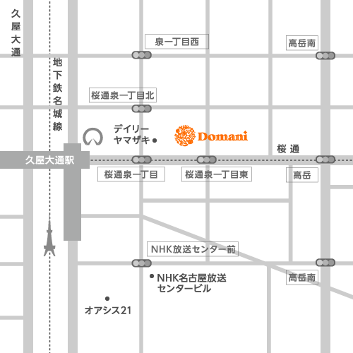 Domani 泉店 地図