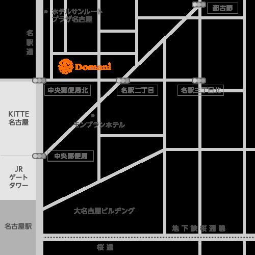 Domani 名古屋駅前店 地図
